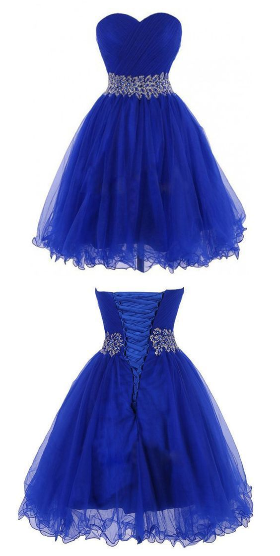 blue dresses short homecoming dress,blue homecoming dresses,backless prom party gown TUDZWVQ