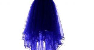 blue dresses yiyadawn womenu0027s high-low homecoming dress short evening gown (u20ac80) ❤ liked LKOTWMV