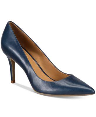 blue pumps calvin klein womenu0027s gayle pointed-toe pumps TXUTLHI