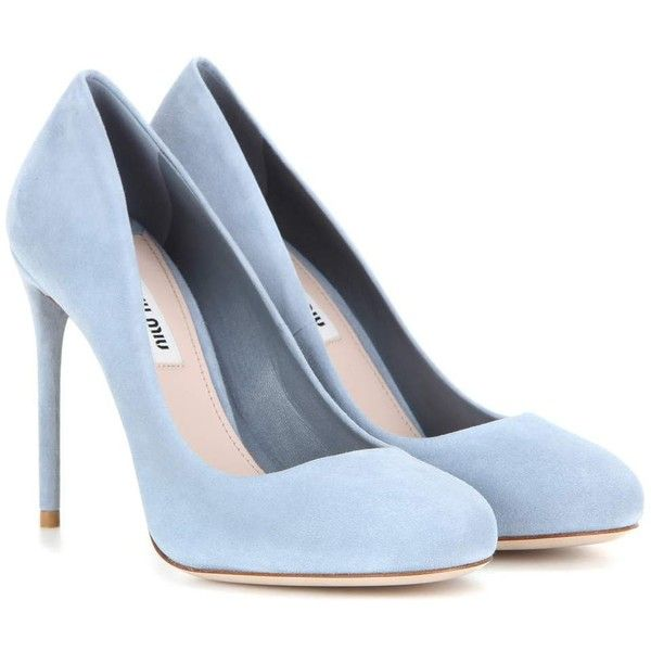 blue pumps miu miu suede pumps (1 010 aud) ❤ liked on polyvore featuring shoes, KMTCYPU