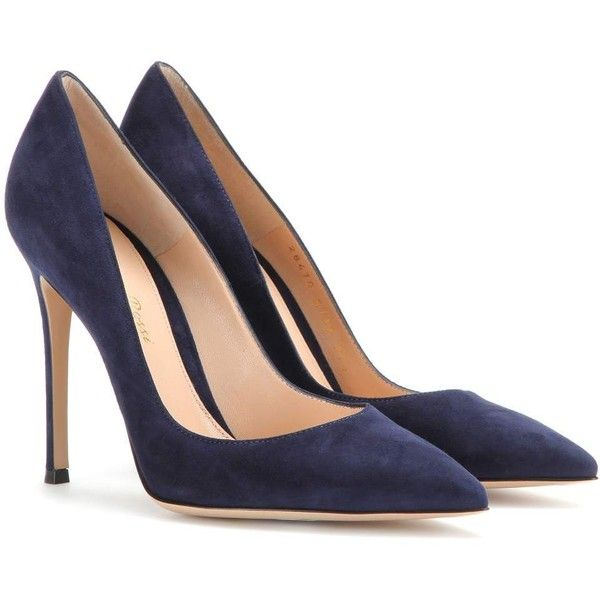 blue suede pumps gianvito rossi suede pumps found on polyvore featuring shoes, pumps, heels,  gianvito rossi UDPXVIQ