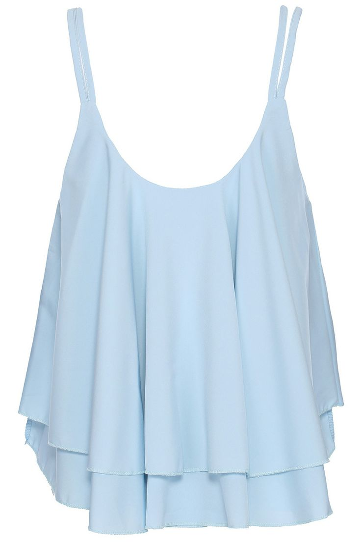 blue tops light blue cami, cute and flowy. perfect for summer! would look great with HBEODUW