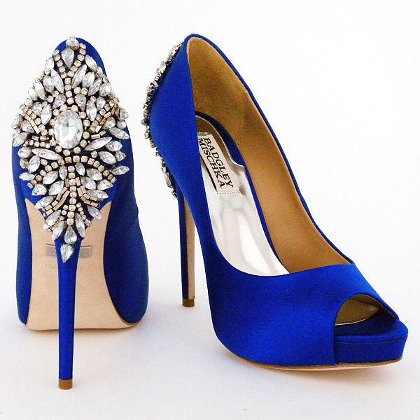 blue wedding shoes badgley mischka kiara wedding shoes, sapphire OUGEAIT