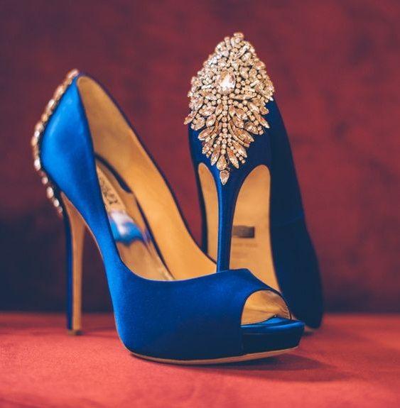 blue wedding shoes blue bridal shoes PTHMGGG