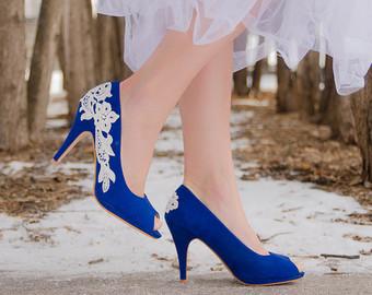 blue wedding shoes wedding shoes,blue heels,bridal shoes,wedding heel,blue bridal TBUECUT