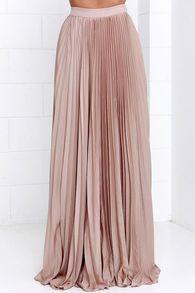 blush pleated maxi skirt - dhtsinstashop boutique - 2 CHXVODJ