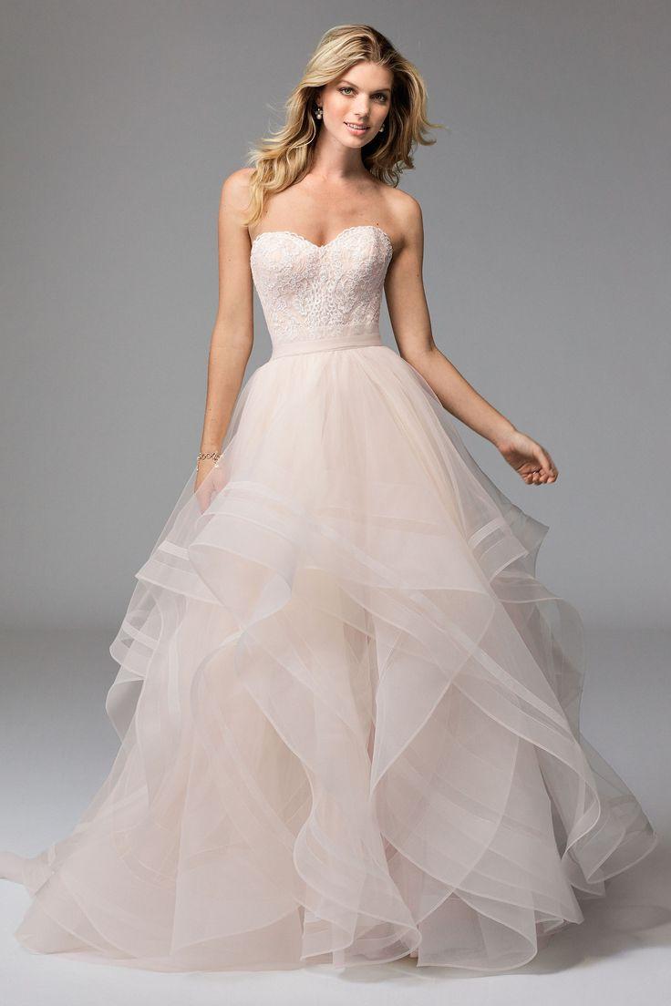 blush wedding dresses @watterswtoo wtoo style 17118 lula corset u0026 effie skirt blush bridal  separates. CDNOIBP