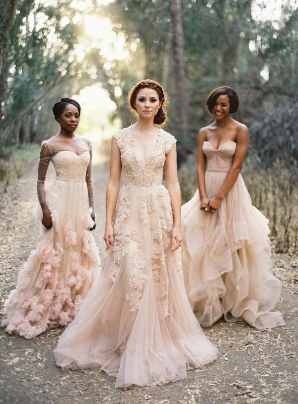blush wedding dresses blush gowns OKURJUI