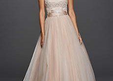 blush wedding dresses long ballgown romantic wedding dress - jewel GSYXTER