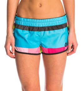 board shorts for women hurley womenu0027s supersuede printed 2.5 beachrider kingsroad boardshort VIFAUYP