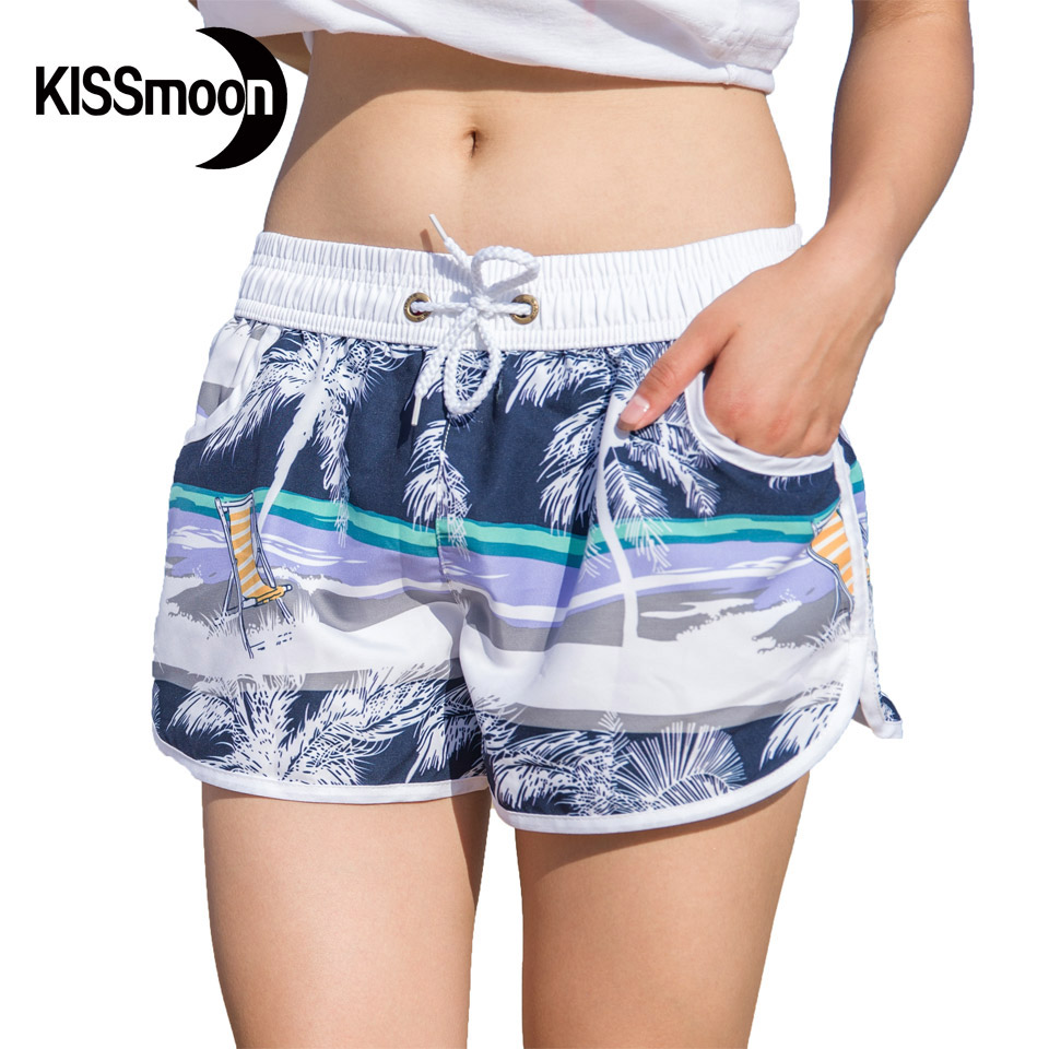 board shorts for women kissyuer quick-drying sunshine beach deck chair boardshorts women swimsuit  hot sexy women couple UFJMOTW
