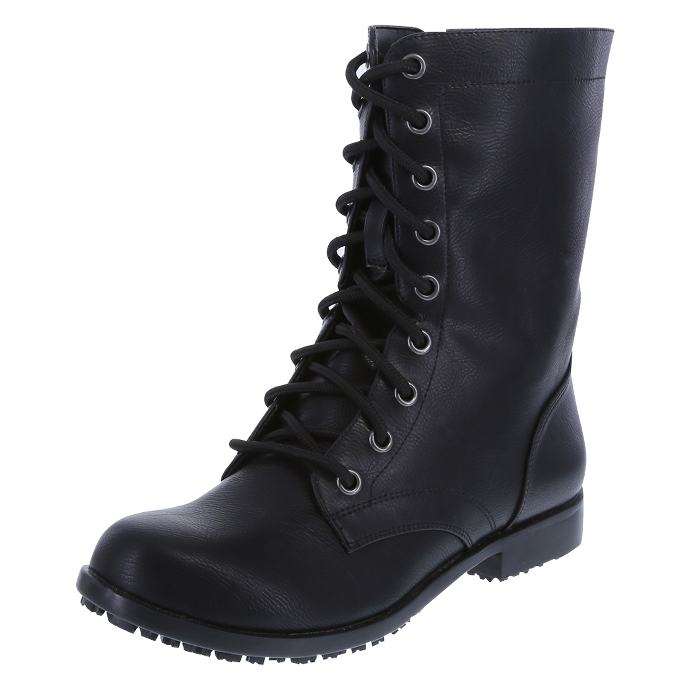 boots women womenu0027s slip resistant brooke lace-up with zipper boot, black, hi-res TQOFFYI