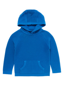 boys jumpers blue ribbed hoodie (9 months - 6 years) IAMPJTZ