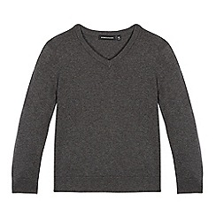 boys jumpers debenhams - childrenu0027s grey v neck jumper TGWIKAB