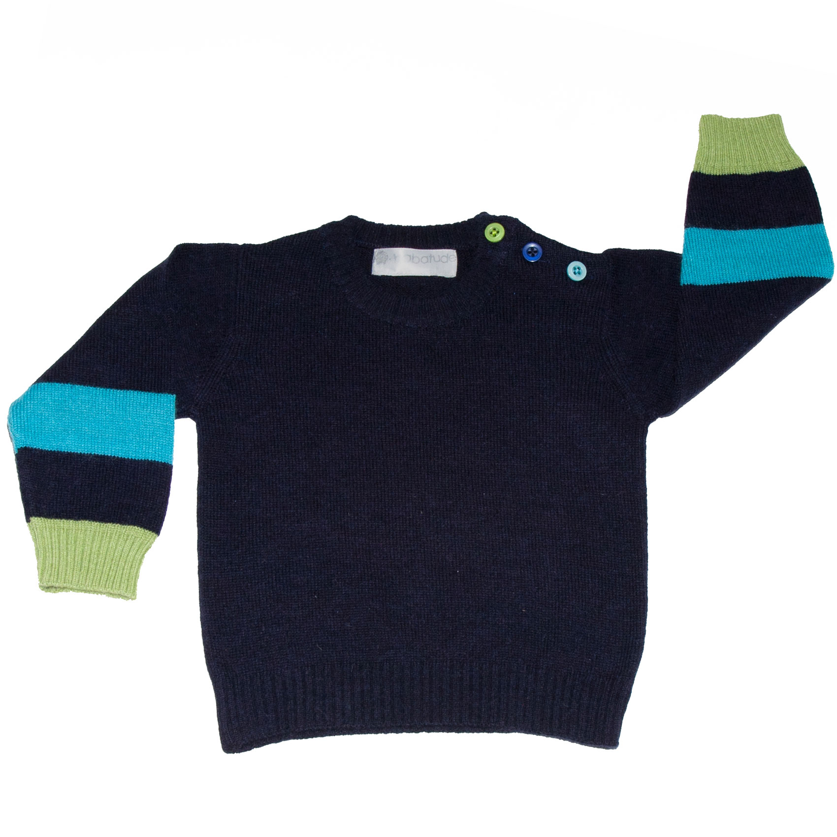 boys jumpers super stripe jumper blue lime navy LUMKSGL