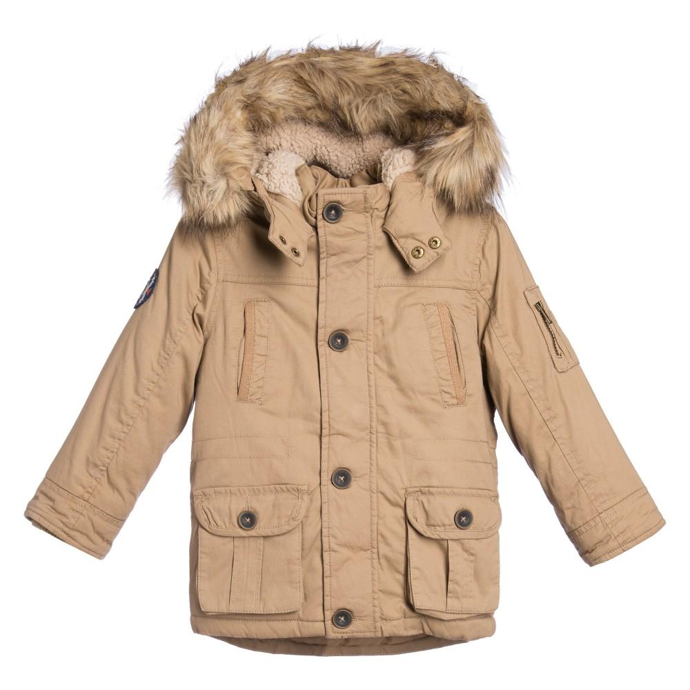 boys parka coats mayoral - boys beige padded parka coat | childrensalon FSPESZK
