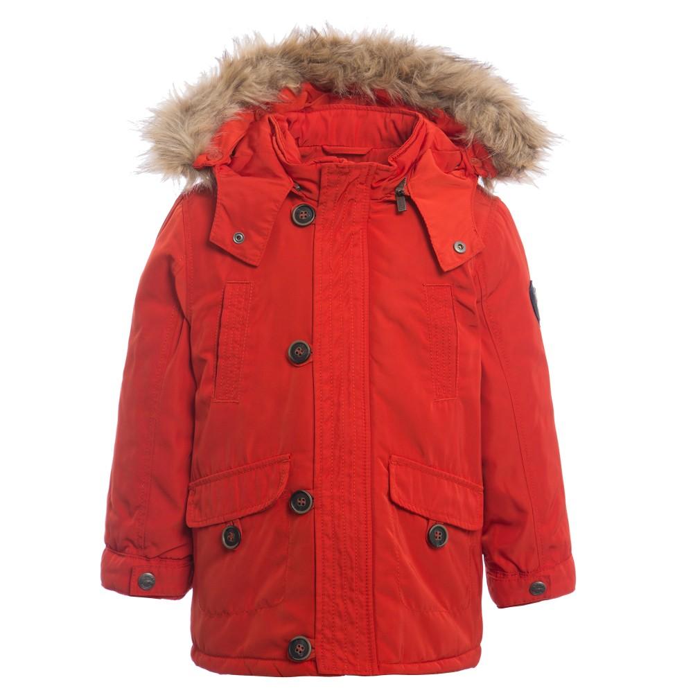 boys parka coats mayoral - boys orange parka coat with fur hood | childrensalon NLWHVRW