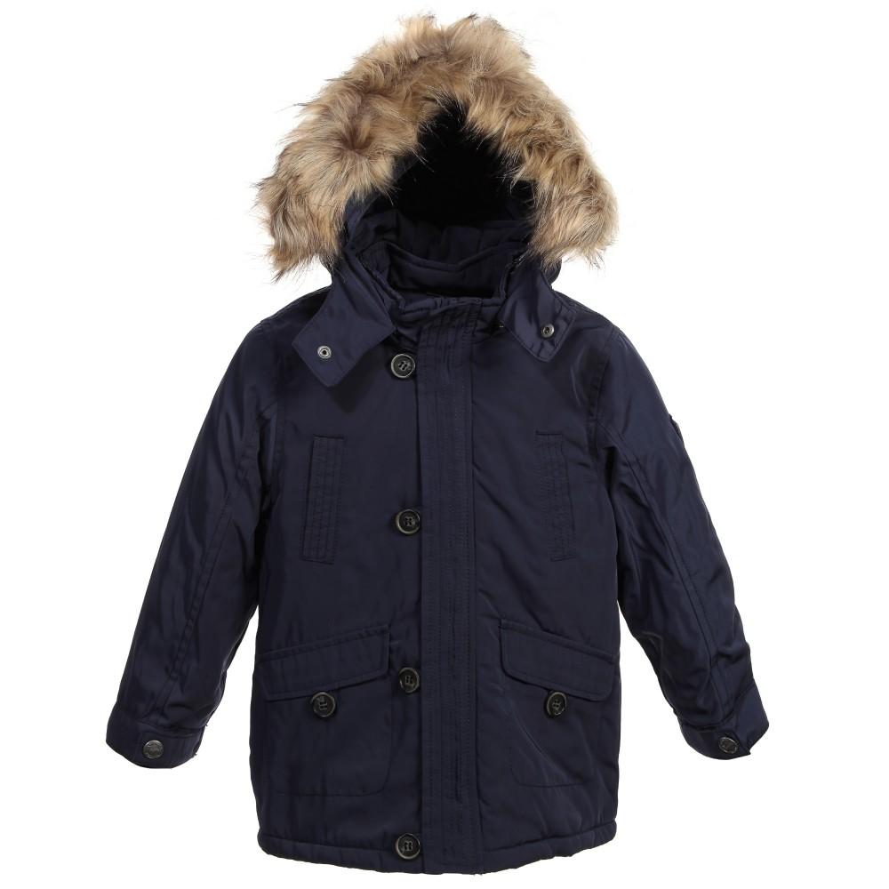 boys parka coats mayoral - boys parka navy blue coat with fur hood | childrensalon WUKATFE