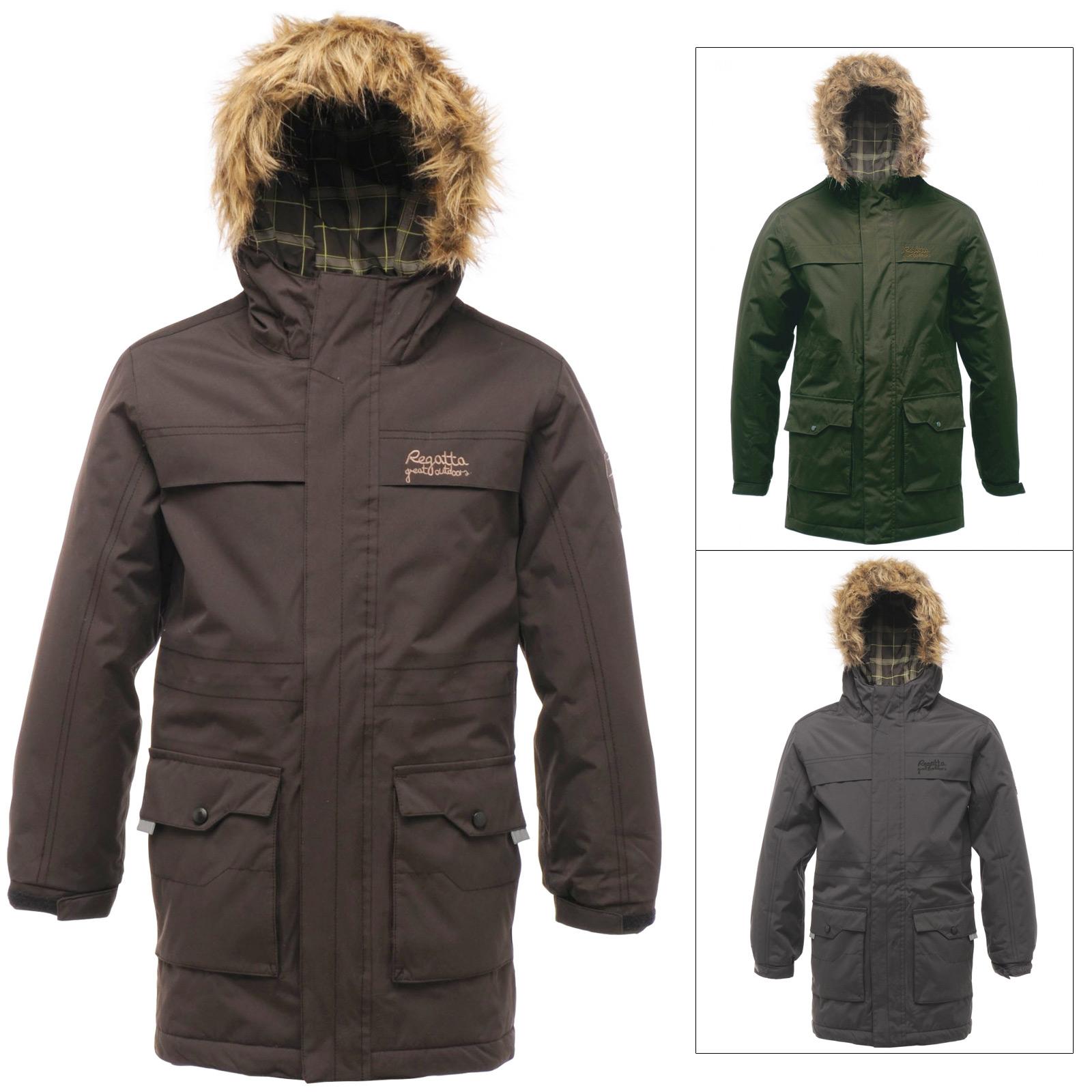 boys parka coats regatta boys waterproof rebellion parka jacket with faux fur trim hood warm  coat VOIHFED
