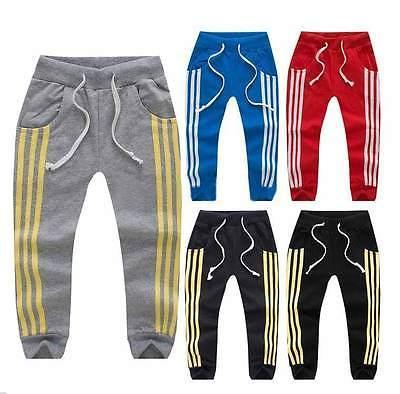 boys track pants kids toddler boys girls leisure casual joggers track pants sport trousers  2-7y(china VNOOPKW