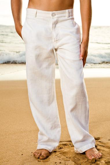 boys white pants boysu0027 linen amalfi pant - zip-fly - button closure - white - island EQCSVAO