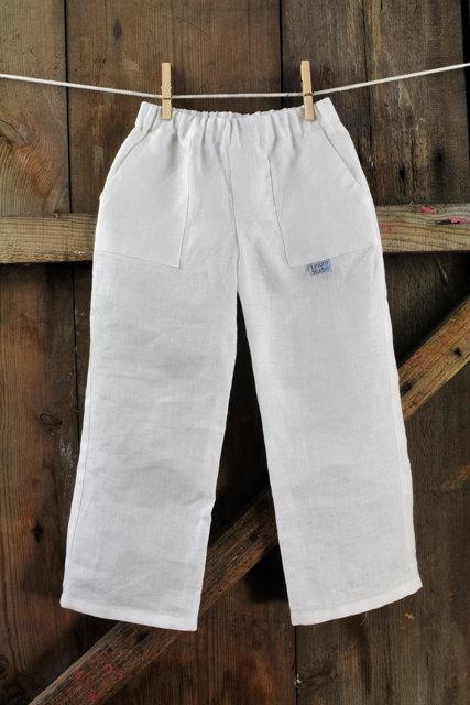 boys white pants linen boy pants - summer boy pants - linen outfit boy - white linen KJTYCRW