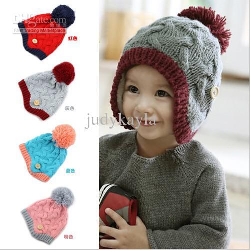 boys winter hats winter baby wool caps earflaps woolen toddler boys girls beanies hats  children knitted QKPLOHX