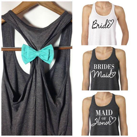 bridesmaid tank tops bridal party tank tops / bridesmaid tank top by bridalblisscouture, $24.95 IXPBXLB