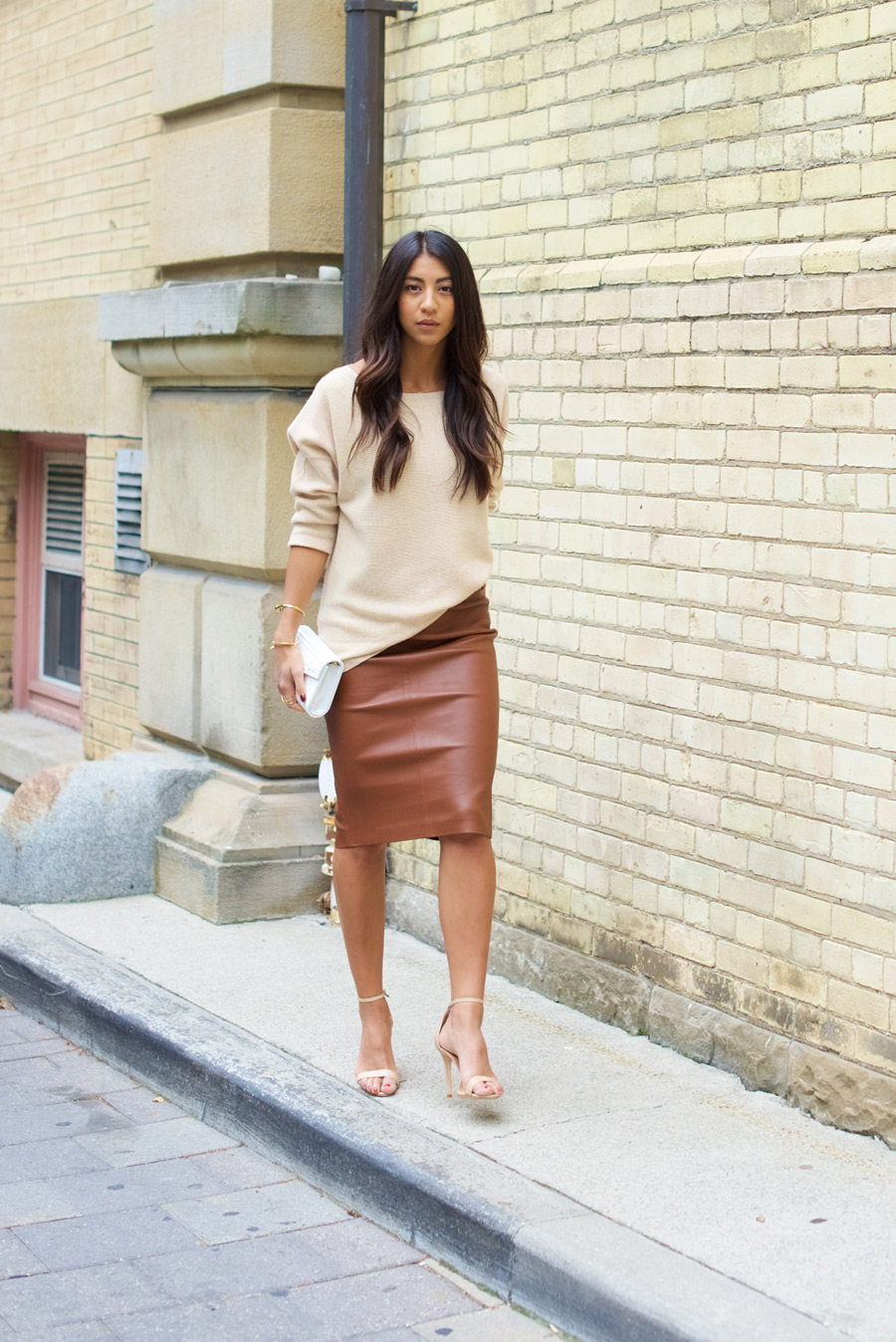 brown leather skirt brown leather pencil skirt | not your standard PYFSMBI
