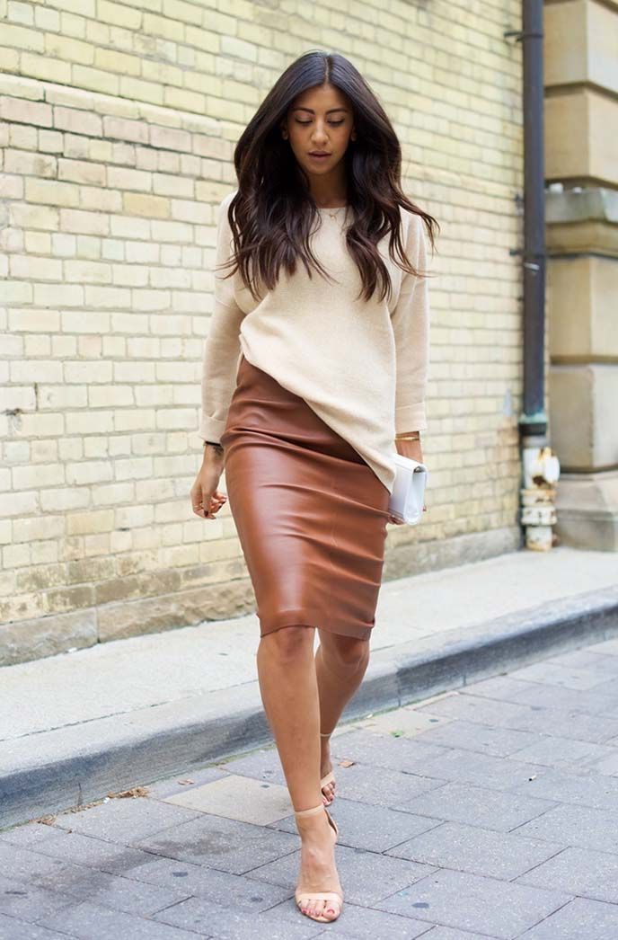 brown leather skirt colored leather skirts and how to wear them QQDHGSQ