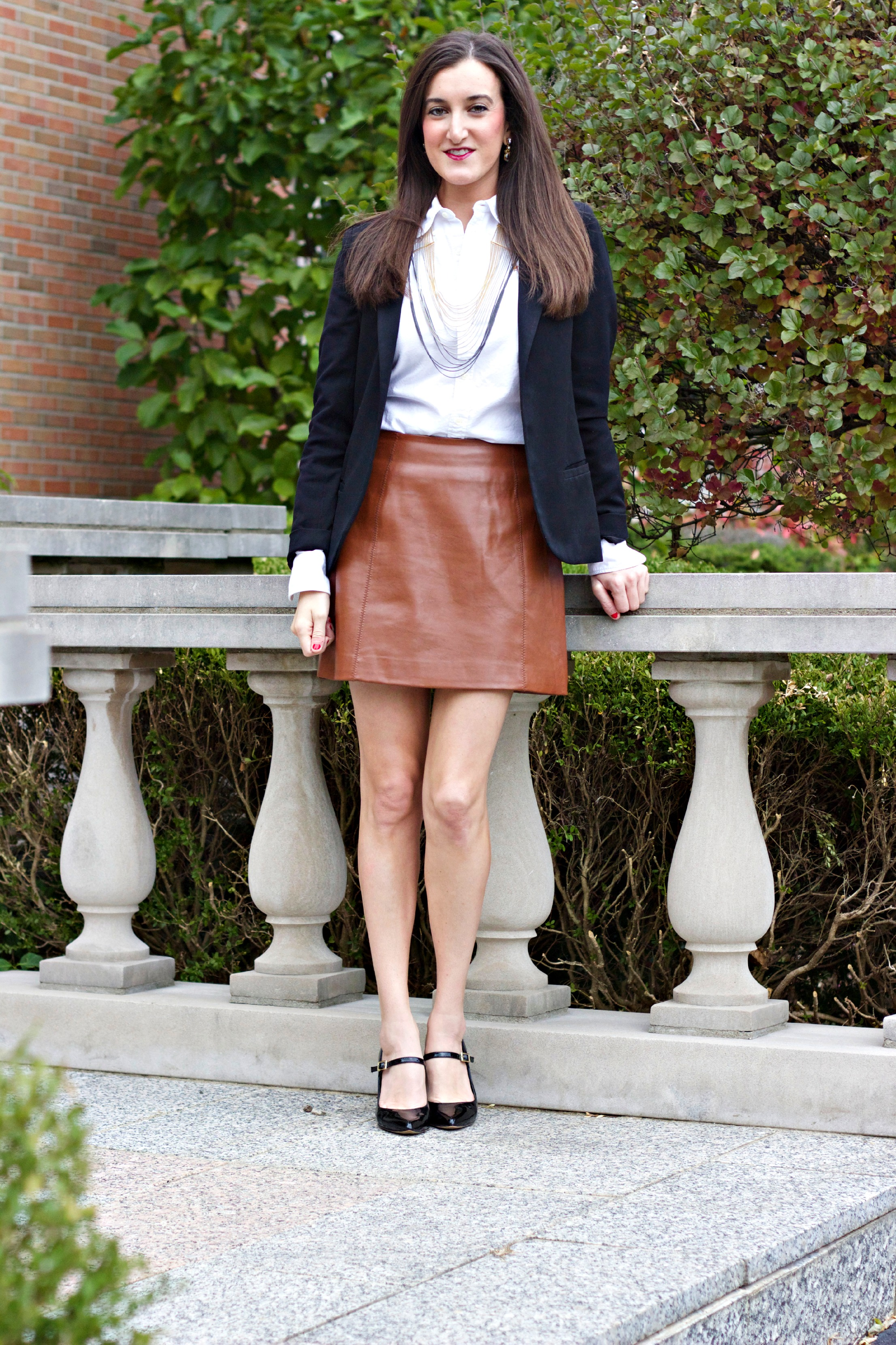 brown leather skirt leather skirt | baubles to bubbles YHDZVAN