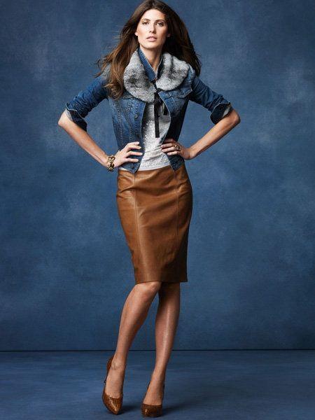 brown leather skirt move over grandma. denim pencil skirtleather pencil skirtsbrown ... EKZXFPN