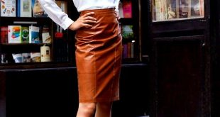 brown leather skirt one of my favourite things i own is a black leather pencil skirt but AOVBAKH