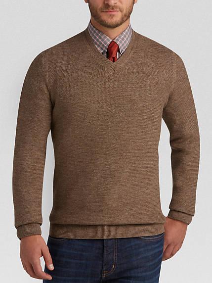 brown sweater joseph abboud light brown v-neck sweater IUNKQBV