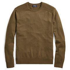 brown sweater merino wool moto sweater - crewneck sweaters - ralphlauren.com TLAGRJN