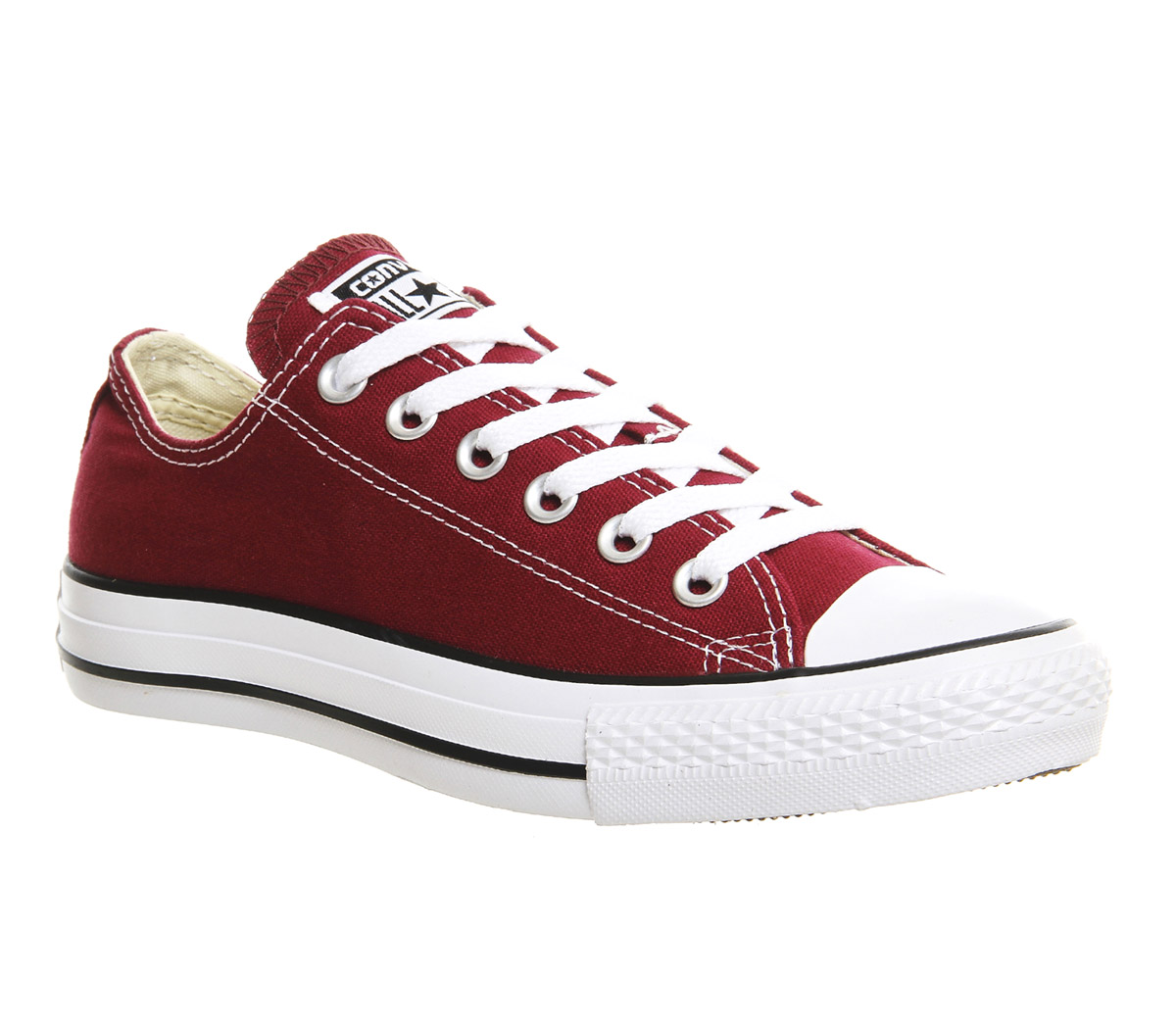 burgundy converse converse all star low maroon canvas - unisex sports NTFTRSV