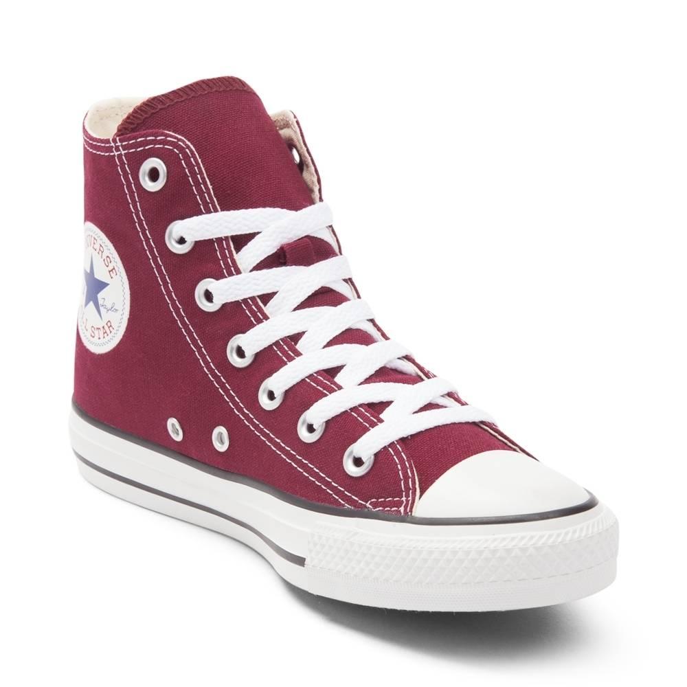 burgundy converse converse chuck taylor all star hi sneaker AWSPUJH