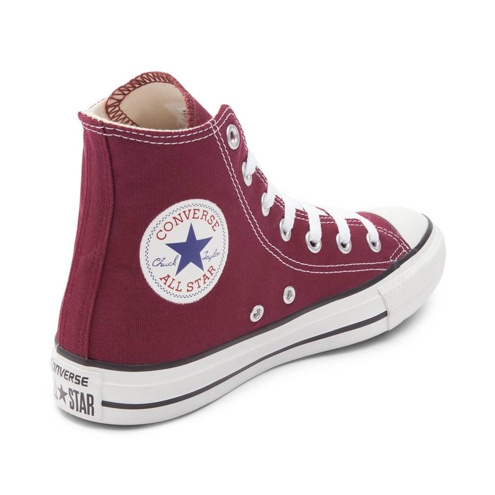 burgundy converse converse chuck taylor all star hi sneaker REBVJZL