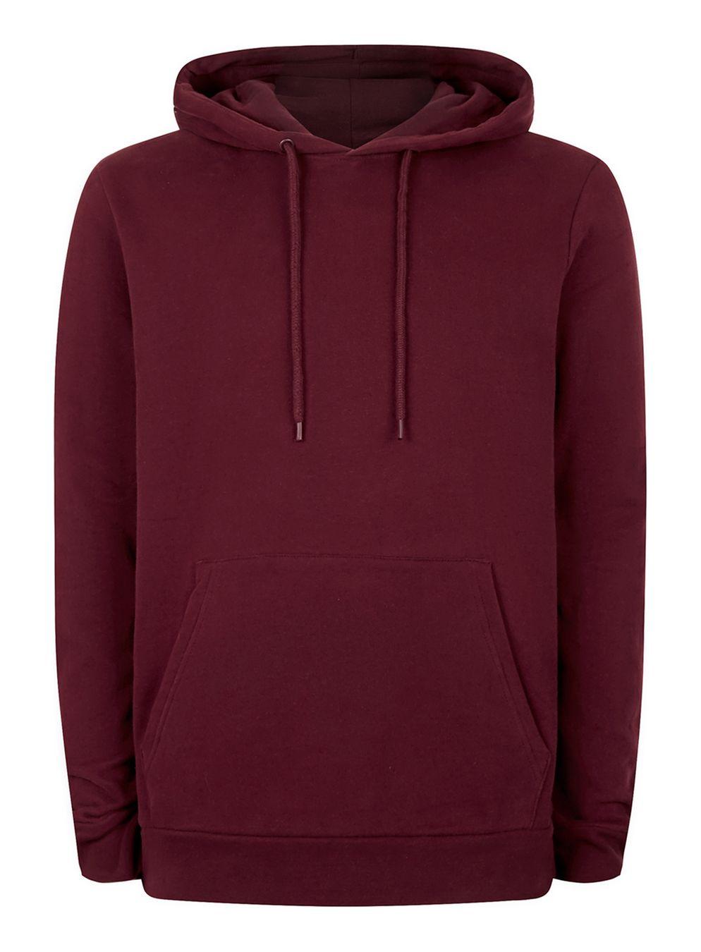 burgundy hoodie burgundy classic fit hoodie - topman TPCBQSU