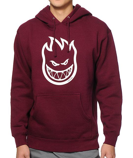 burgundy hoodie spitfire bighead hoodie WYWSSAI