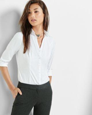 business wear for women ... original long sleeve ultimate essential shirt GPYFWEC