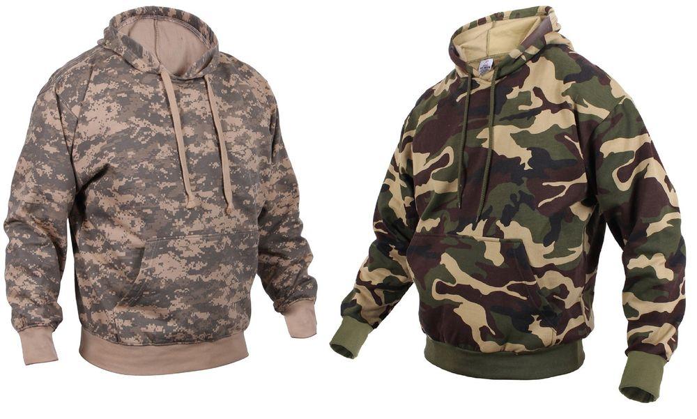 camo hoodie camouflage fleece-lined pullover hooded sweatshirt - acu or woodland camo  hoodie YMZGRNB