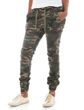 camo pants for women riflessi womenu0027s twill stretch jogger pants WRQDZNG