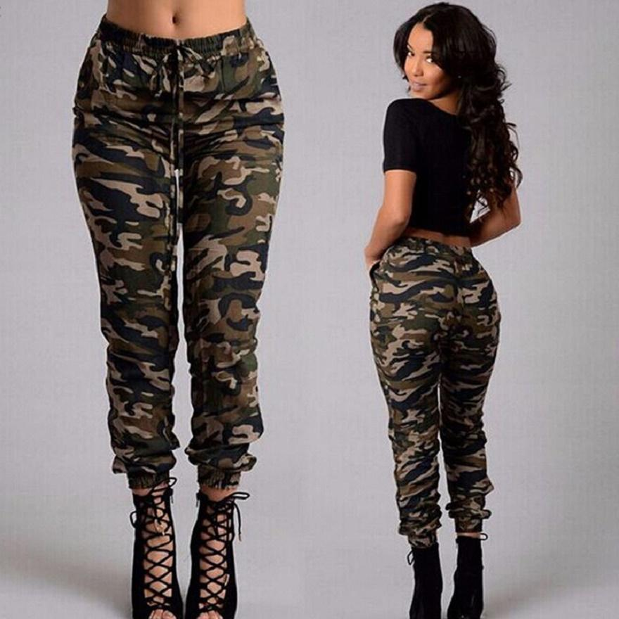 camo pants for women women cargo pants,pencil pants regular fashion new army green camouflage  pants plus size JOQRURM