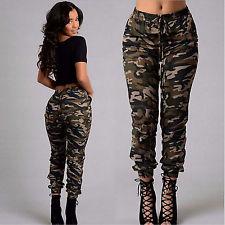 camo pants for women women fashion cool casual camouflage cargo pocket pants joggers slacks  trousers FRSKZUN