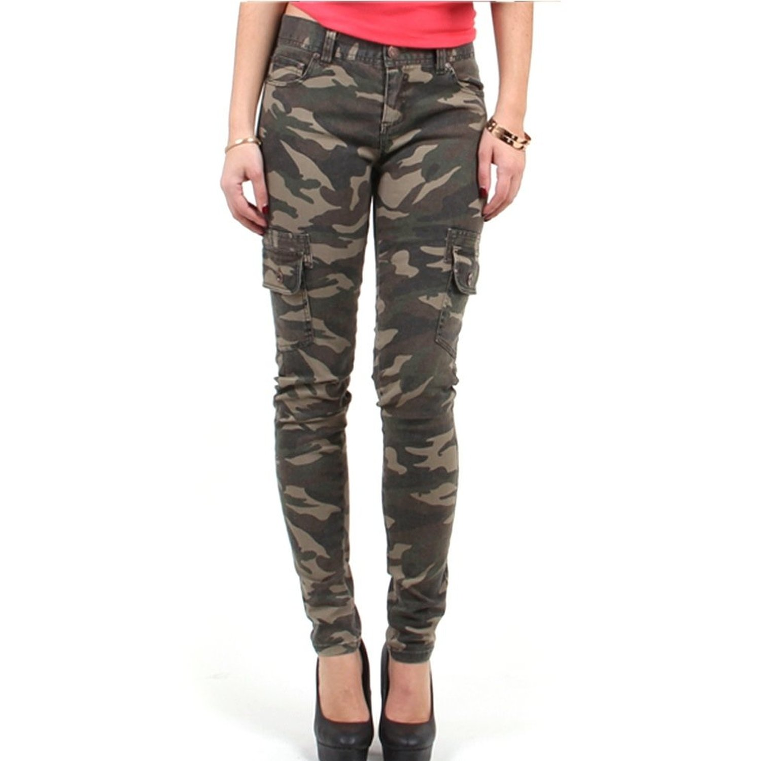 camo pants for women womenu0027s camo army cargo skinny pants (new with tag) at amazon womenu0027s  clothing DQKOGYB