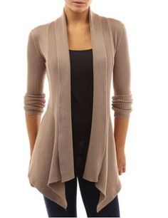 cardigans for women chic turn-down neck long sleeve pure color womenu0027s cardigan LUTFEPA