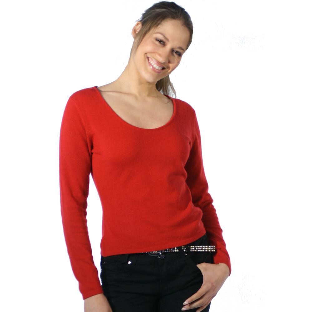 cashmere jumper ... scoop neck cashmere jumpers red ... GFUQOZK