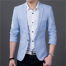 casual suits for men wholesale-menu0027s fashion casual suit jacket groom wedding suits for men  dress blue and MTBZZHU