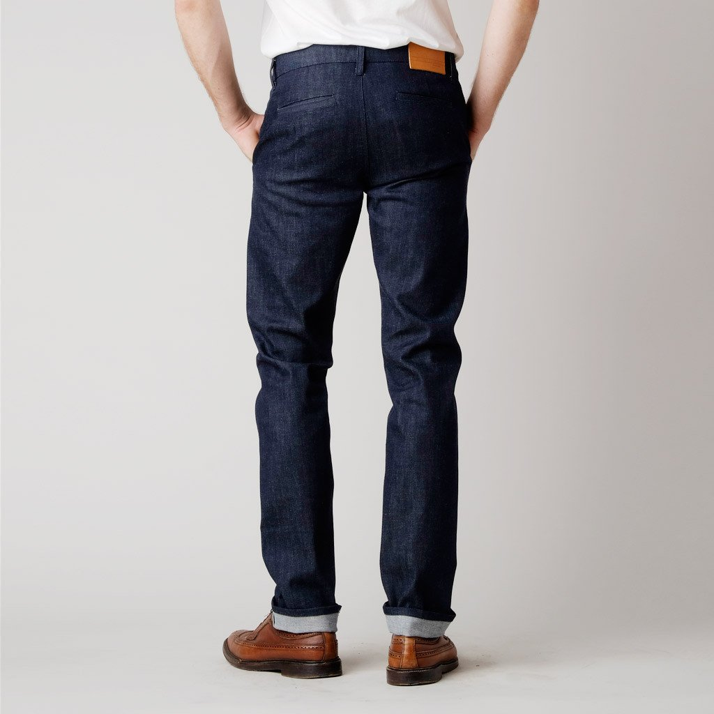 chino jeans bdc menu0027s slim denim chino 11 oz. raw jeans ... ZHAWHTT